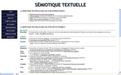 Text semiotics, ressources on the Net